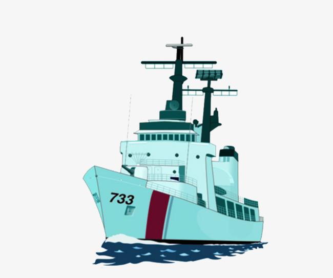 Battleship clipart comic. Blue cartoon ship cruise