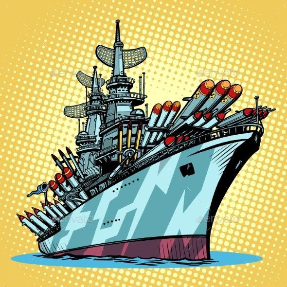 Battleship clipart comic. Warship missile cruiser cartoon