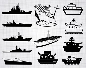 Navy etsy svg bundle. Battleship clipart comic