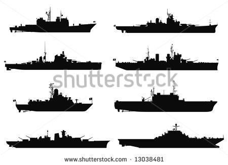 Silhouette . Battleship clipart naval ship