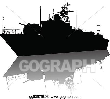 Battleship clipart navy boat. Vector art high detailed