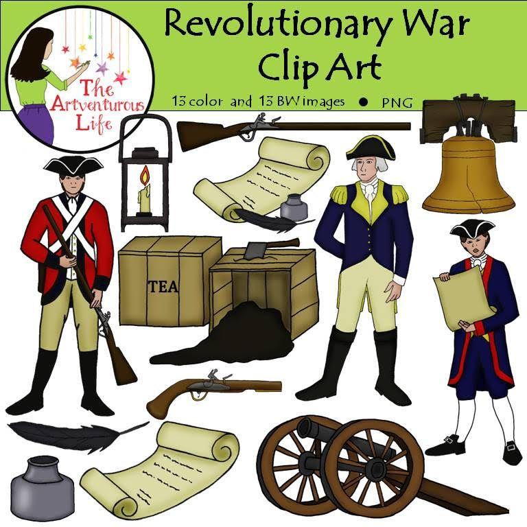 War clip art revolutionaries. History clipart revolutionary