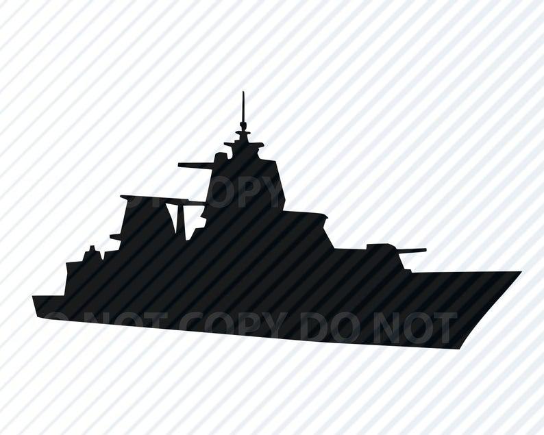 File for cricut silhouette. Battleship clipart svg