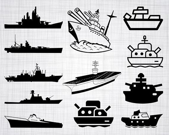 Bundle cut files for. Battleship clipart svg