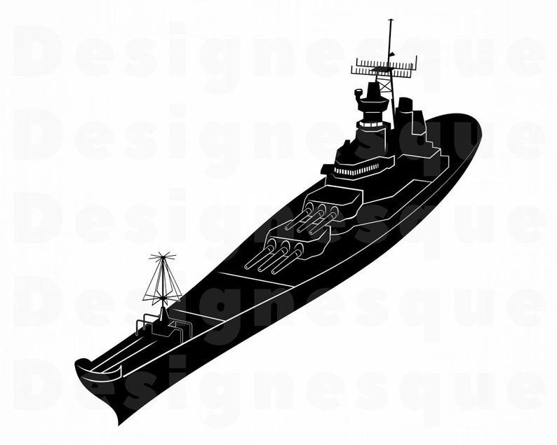 Navy files for cricut. Battleship clipart svg