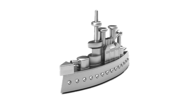 Monopoly game piece png. Battleship clipart transparent background