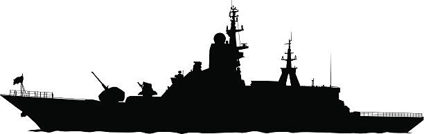 Battleship clipart. Destroyer ship pencil and