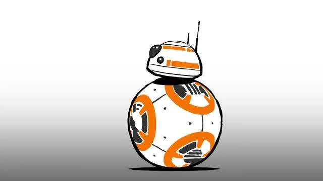 Star wars blips gifs. Bb8 clipart animation
