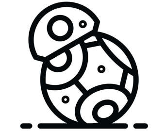 Bb8 clipart black and white. Bb decal etsy star