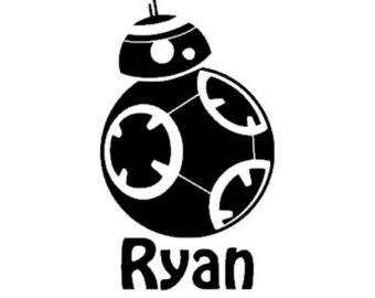 Bb decal etsy for. Bb8 clipart black and white