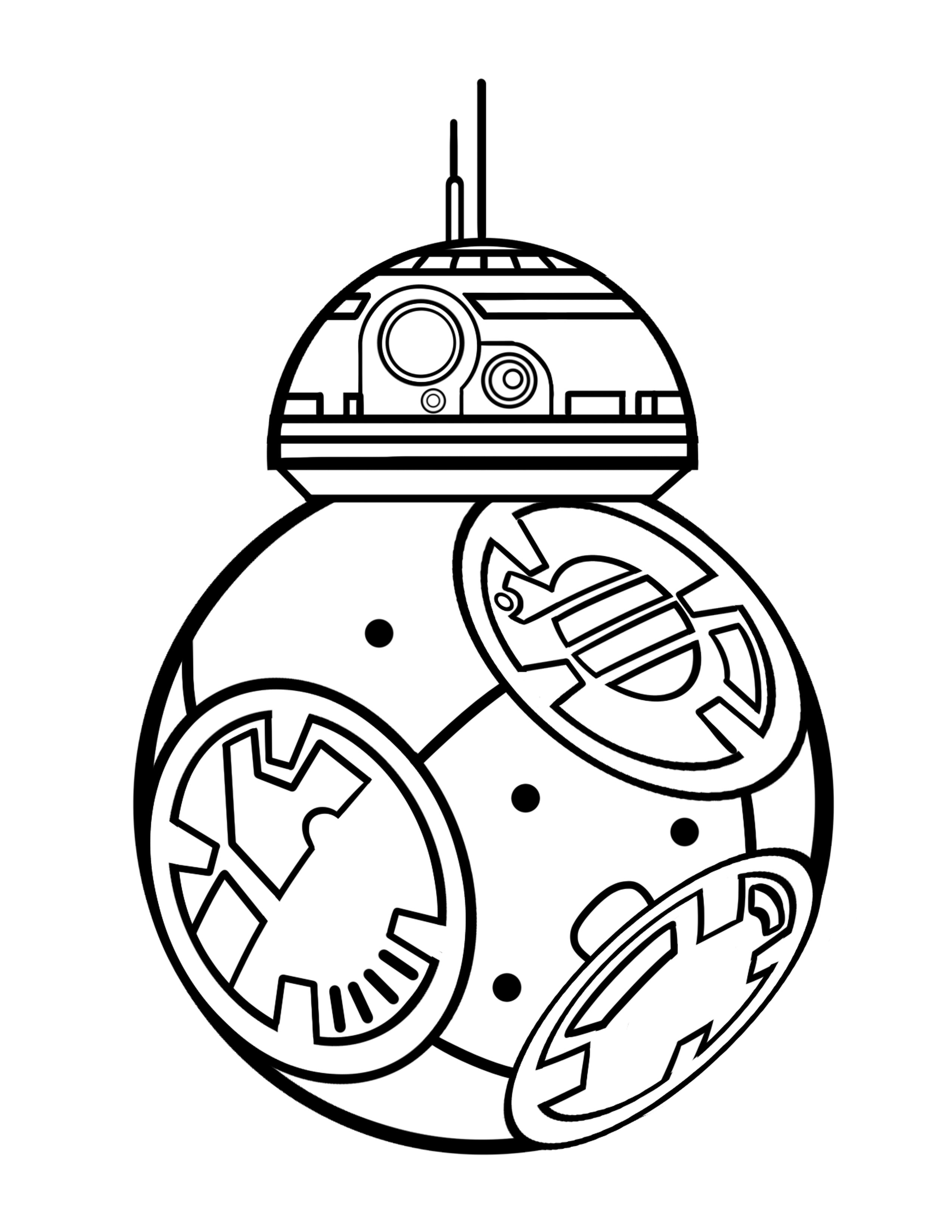 Bb8 clipart black and white. Bb drawing at getdrawings