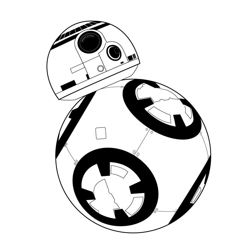 Bb8 Clipart Black And White Bb8 Black And White Transparent
