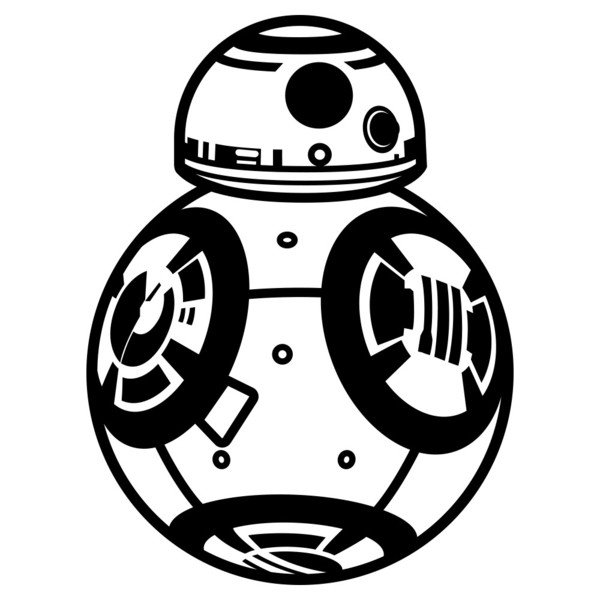 Stunning inspiration ideas star. Bb8 clipart black and white