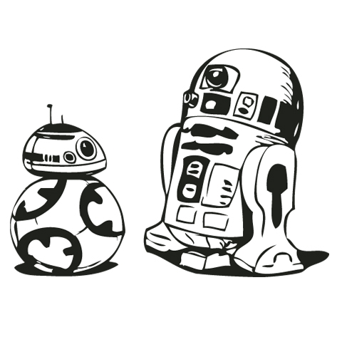Star wars cilpart well. Bb8 clipart black and white