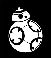 Star wars bb google. Bb8 clipart black and white