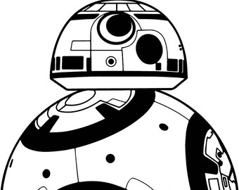 Bb8 clipart black and white. Free bb download clip