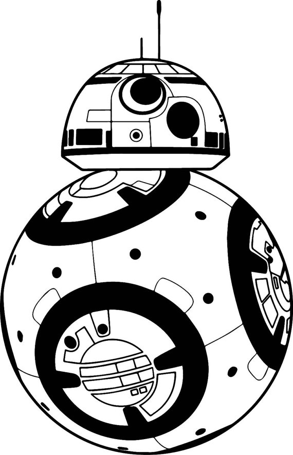 Bb8 clipart black and white.  collection of bb