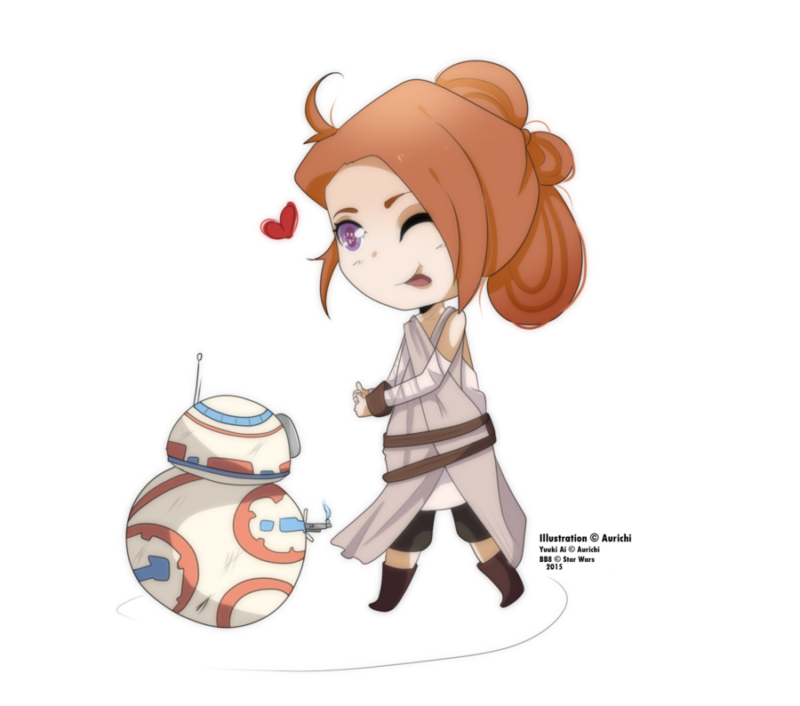 Yuuki cosplay and bb. Starwars clipart rey