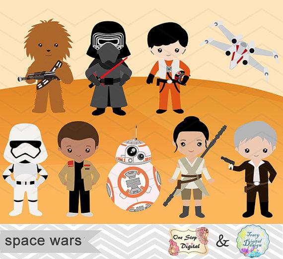 Starwars clipart cute. Printable star wars digital