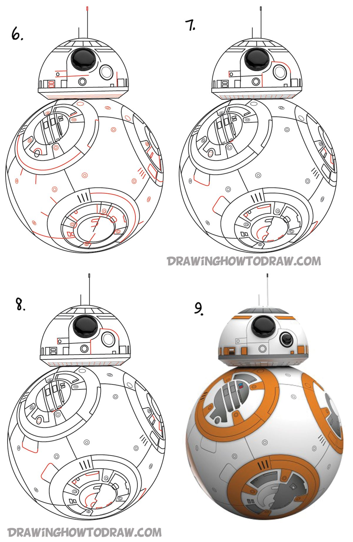 How to bb beeby. Bb8 clipart easy draw