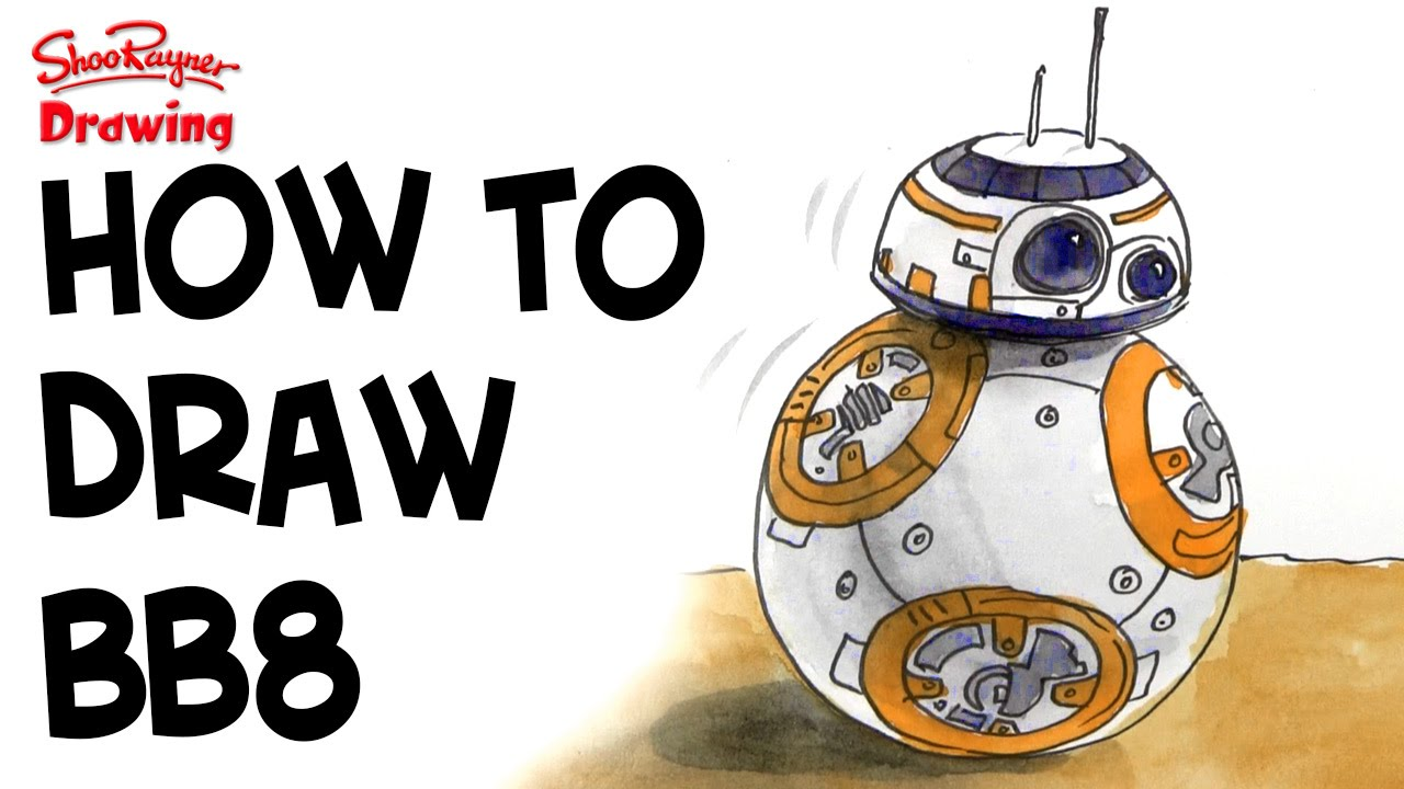Bb8 clipart easy draw. How to bb star
