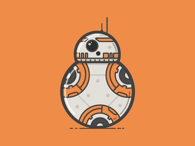 Bb and illustrations. Bb8 clipart flat