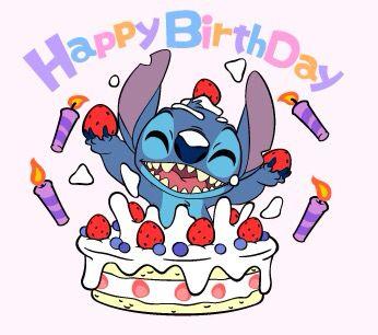 Bb8 clipart happy birthday. Bday stitch cute picture