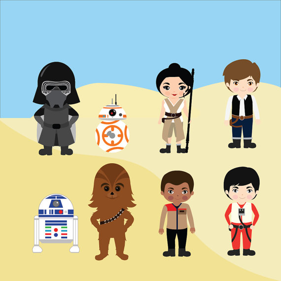 Star wars printable instant. Chewbacca clipart c3po r2d2