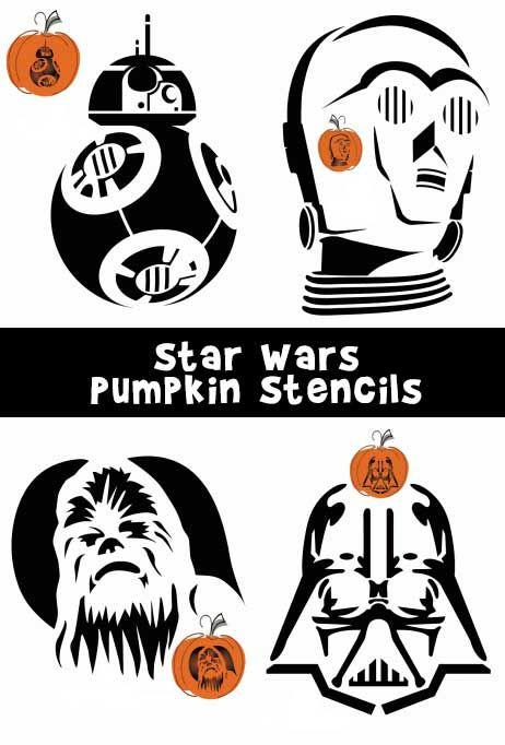 Bb8 clipart pumpkin template. Star wars stencils halloween