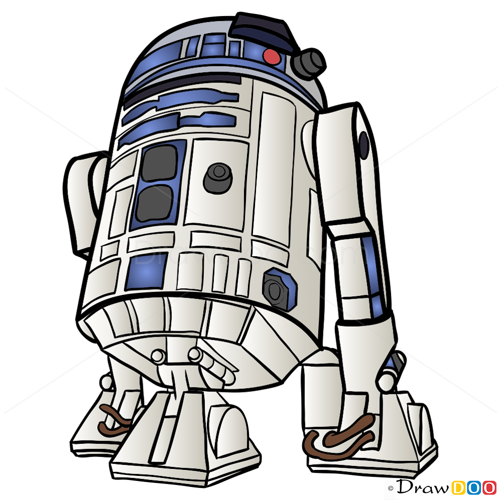 Bb8 clipart r2d2. R d drawing easy