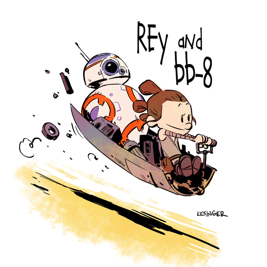 Rey and bb by. Bb8 clipart sand