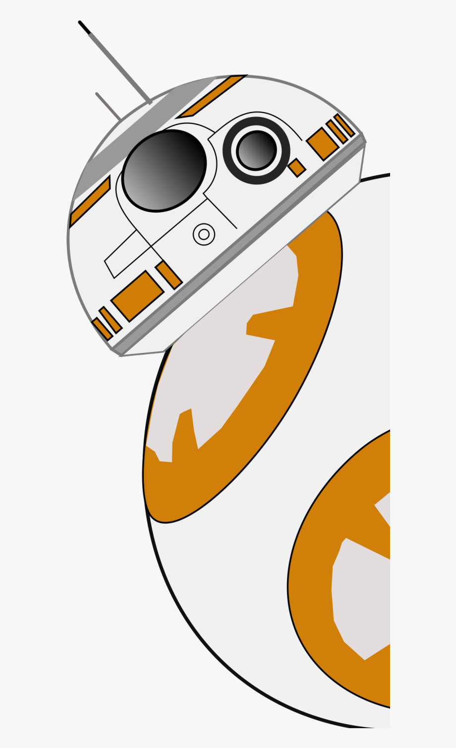 Bb png transparent background. Bb8 clipart star wars
