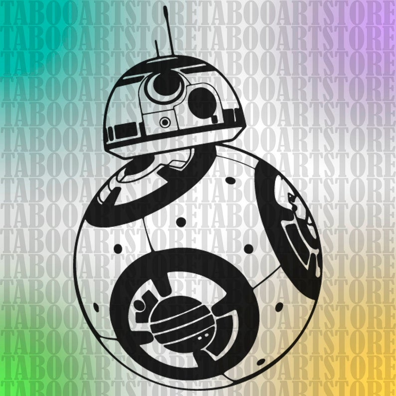 Bb8 clipart star wars. Svg bb eps silhouette