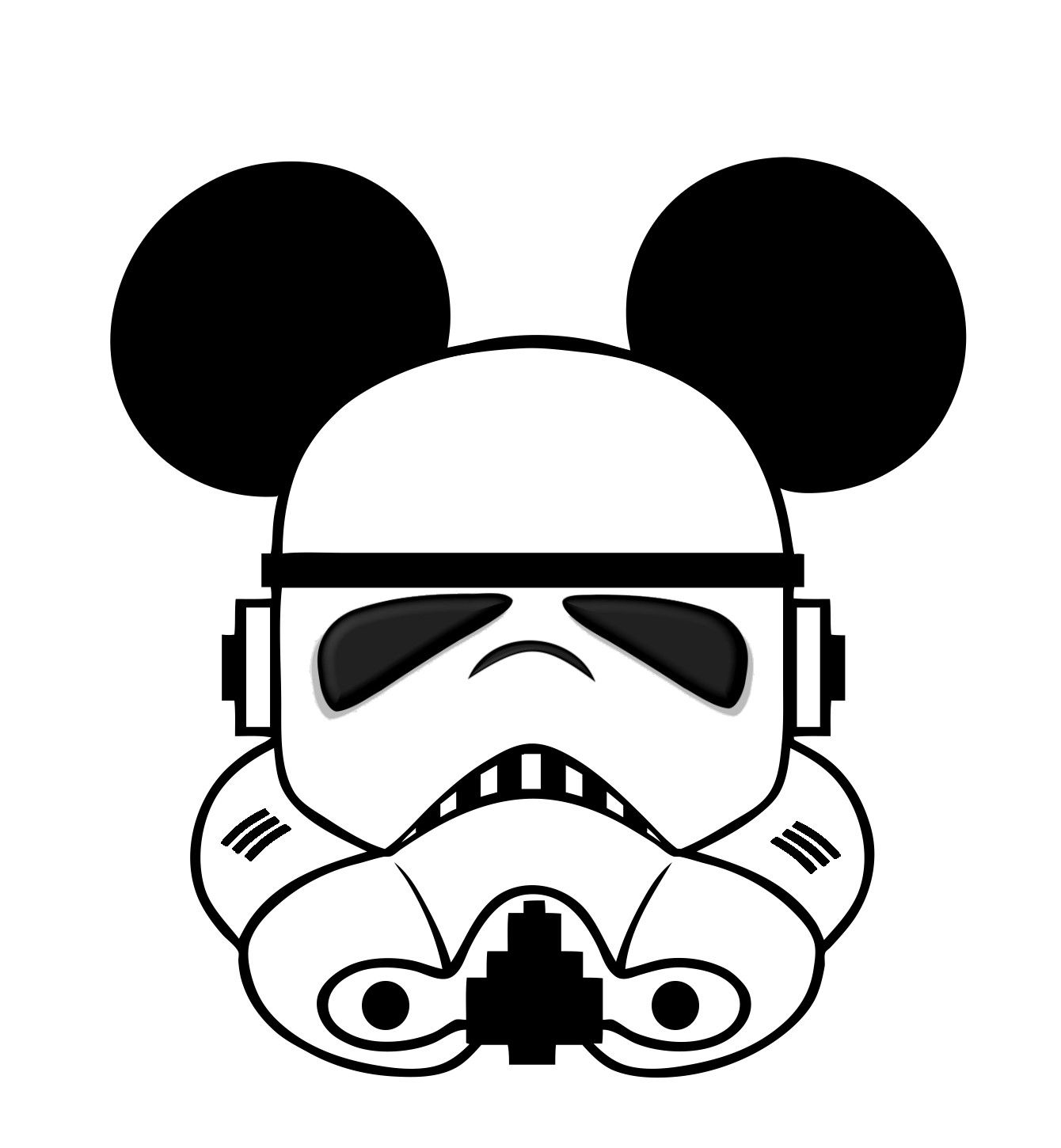 Star Wars Mickey head template | Disney Art | Pinterest | Template ...