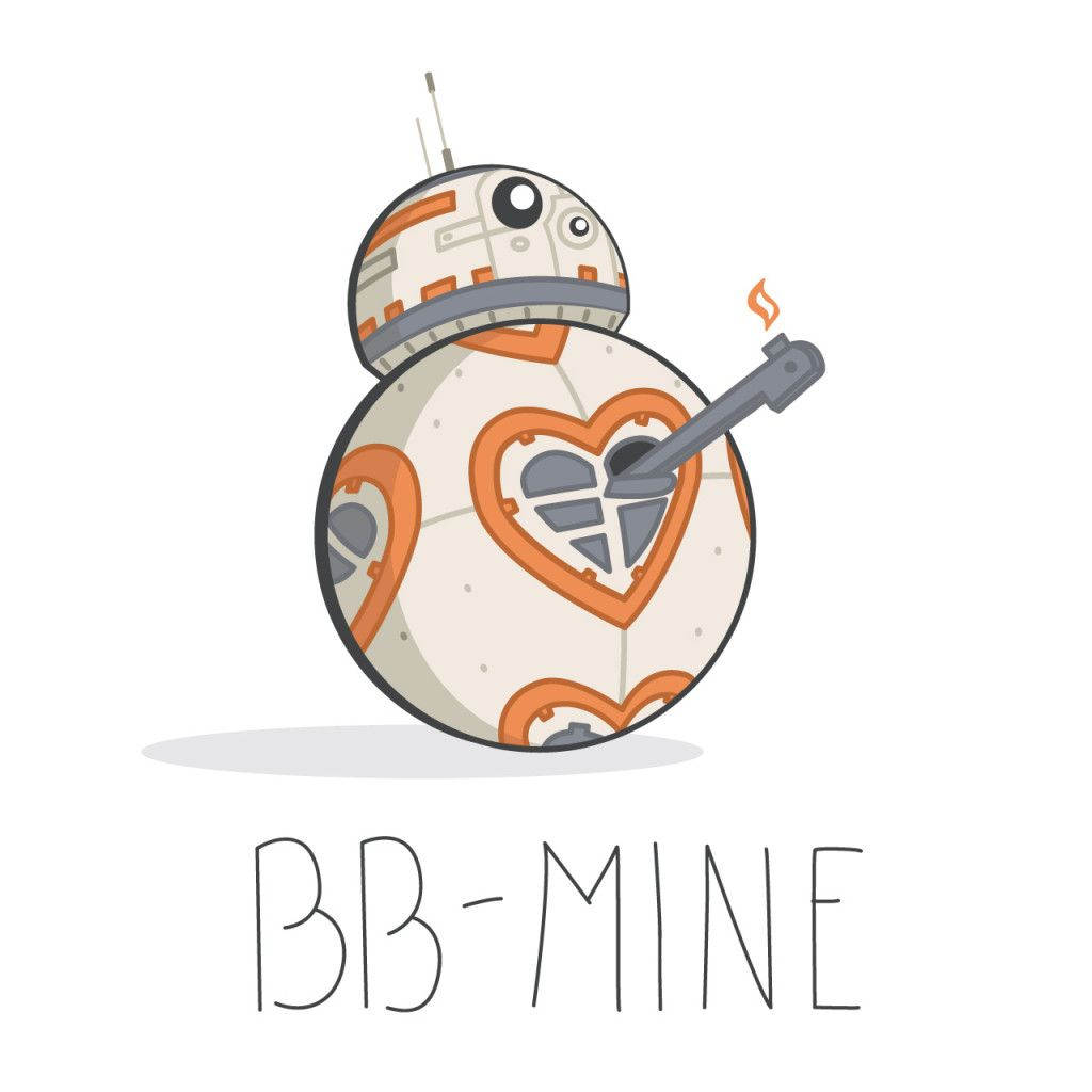 Bb8 clipart the force awakens. Star wars valentine pinterest