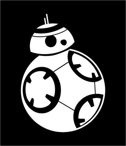 Star wars decal bb. Bb8 clipart the force awakens