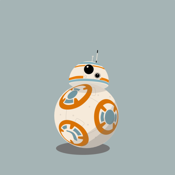 Bb droid from starwars. Bb8 clipart the force awakens
