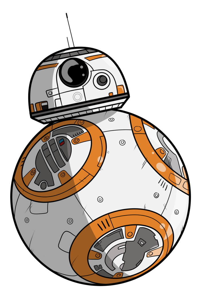 Bb by davemilburn rajzok. Starwars clipart bb8