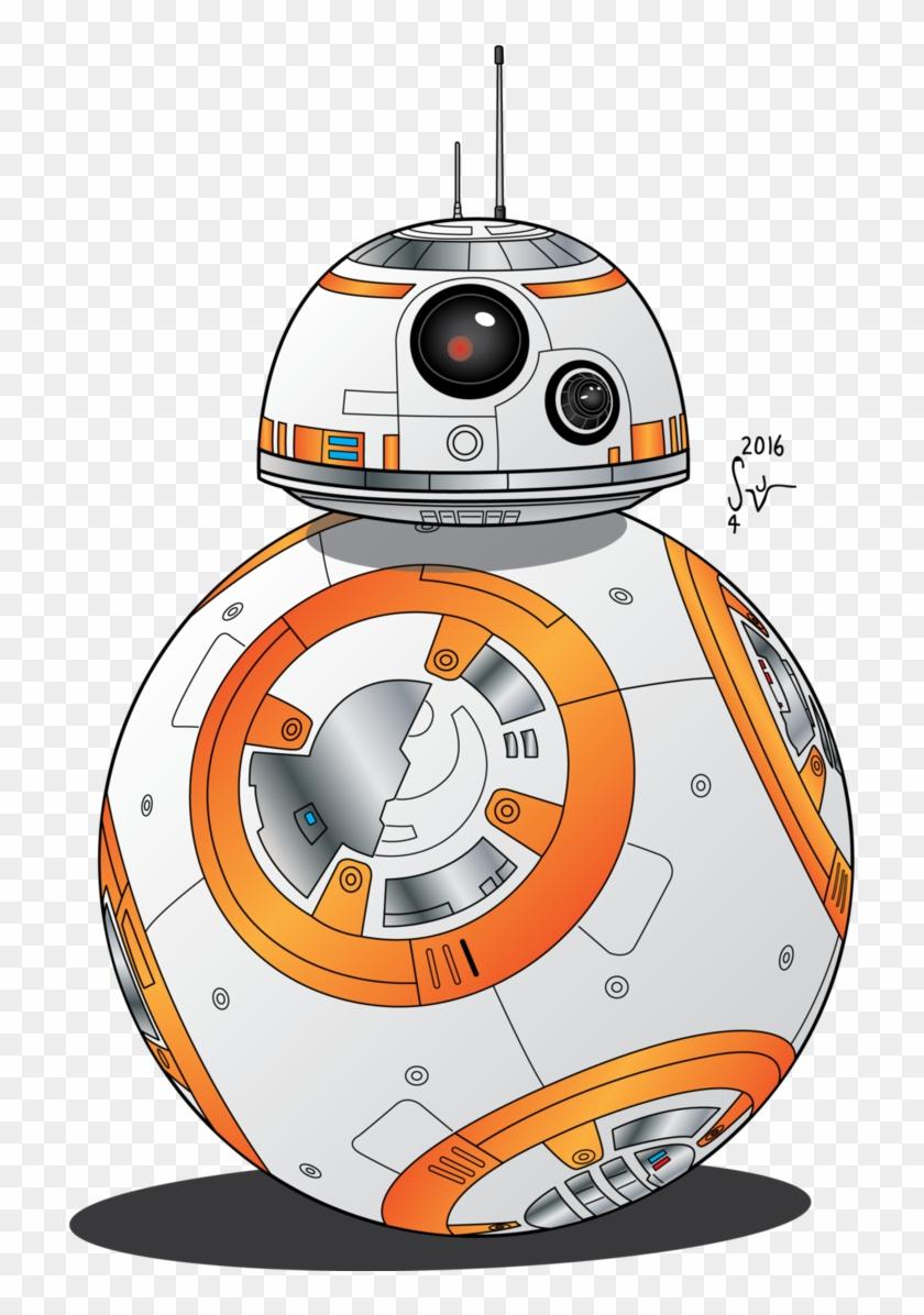 Star wars bb cartoon. Bb8 clipart vector
