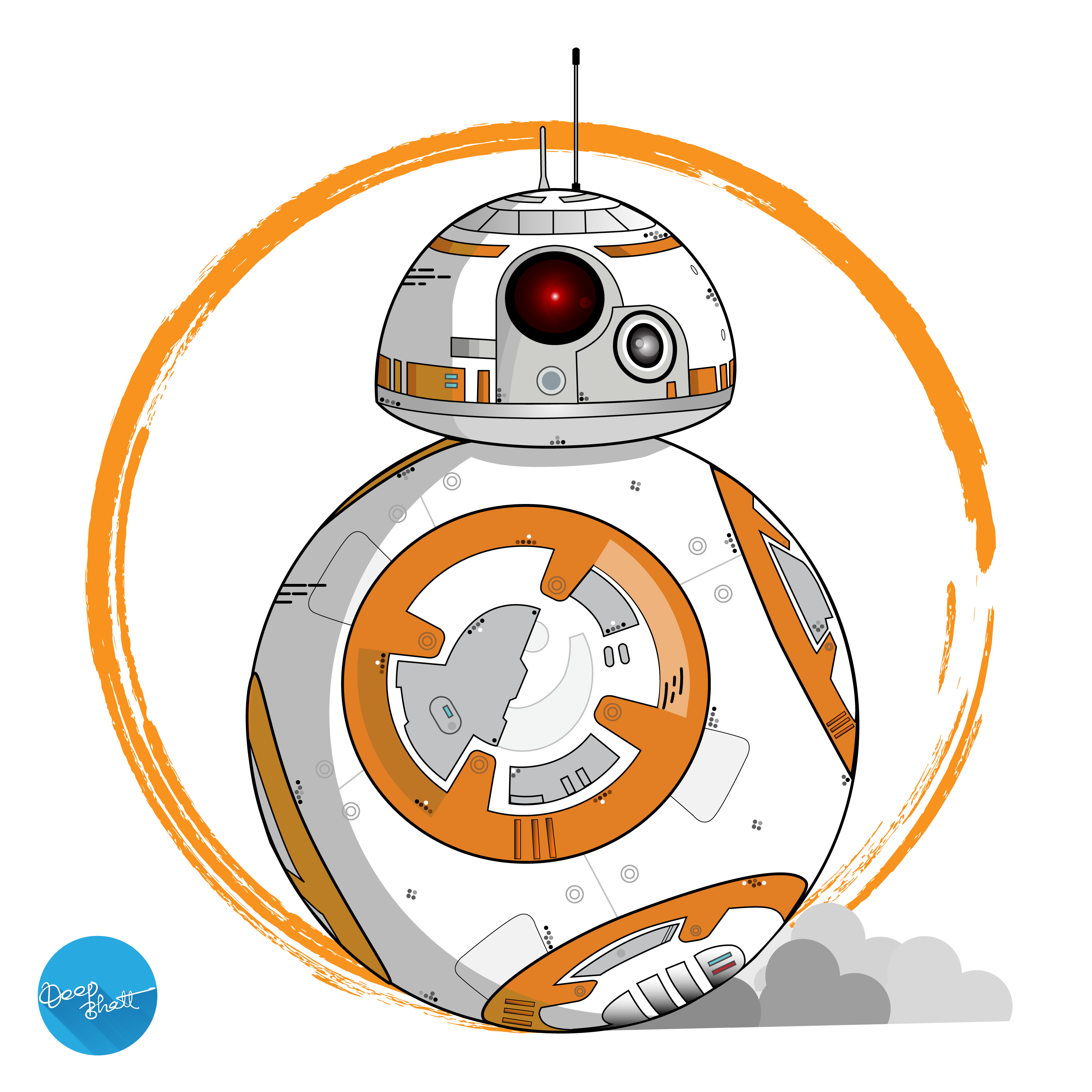 Bb v by aalsi. Bb8 clipart vector