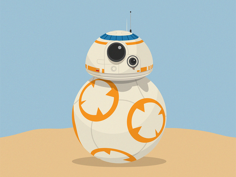 Bb from star wars. Bb8 clipart vector
