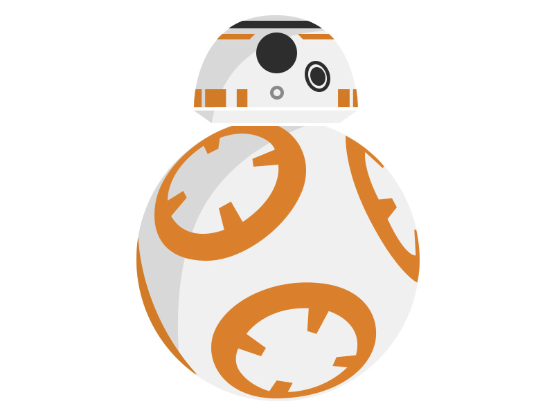 Bb8 clipart vector. Bb droid by sameed