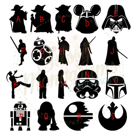 Star wars vinyl decal. Chewbacca clipart silhouette