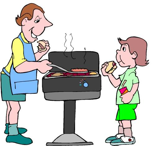 Bbq clipart animation. Food and drinks barbecue