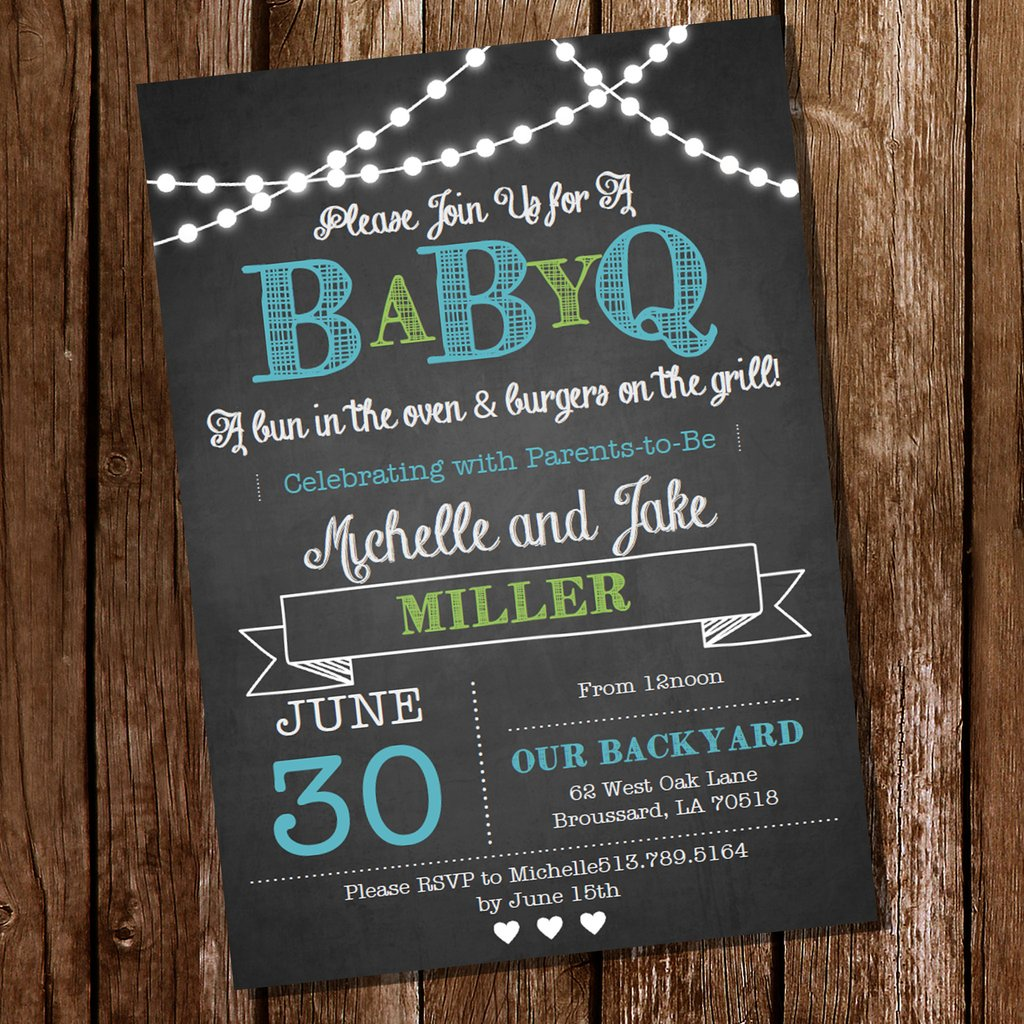 Chalkboard q for a. Bbq clipart baby shower