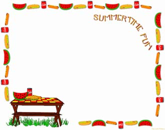 Cookout clipart frame. Free bbq border cliparts
