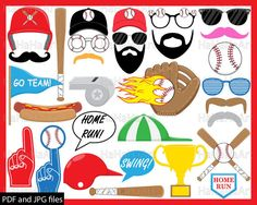 Bbq clipart baseball. Photo booth props i