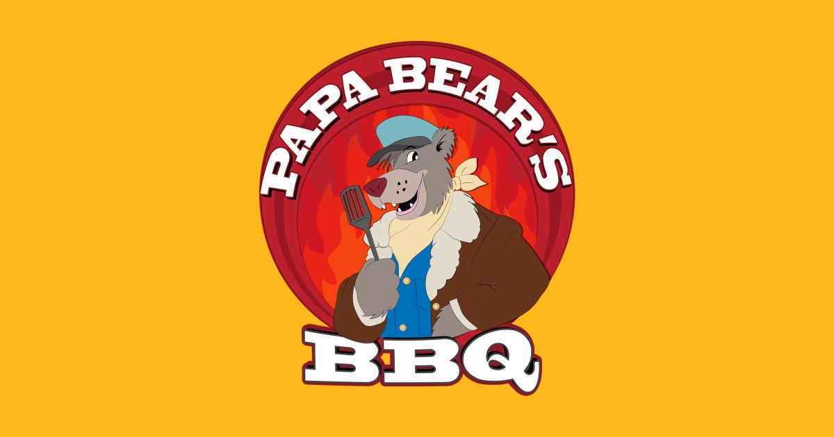 Papa bear s bears. Bbq clipart baseball