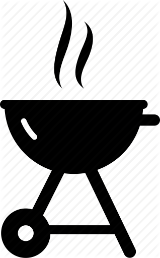 Free png grill transparent. Bbq clipart black and white