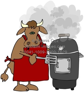 bbq clipart cow